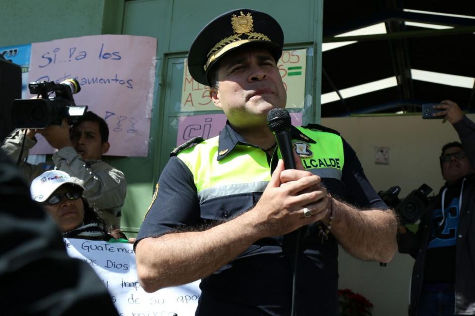 El alcalde de Mixco, Neto Bran, dijo esto sobre ese cambio. (Foto: Alejandro Balan/Soy502)