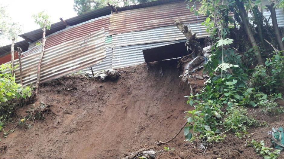 Otras viviendas se encuentran en riesgo.  (Foto: Municipalidad de Mixco)