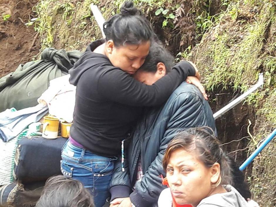 Este es el drama que viven los afectados en Mixco. (Foto: Municipalidad de Mixco)