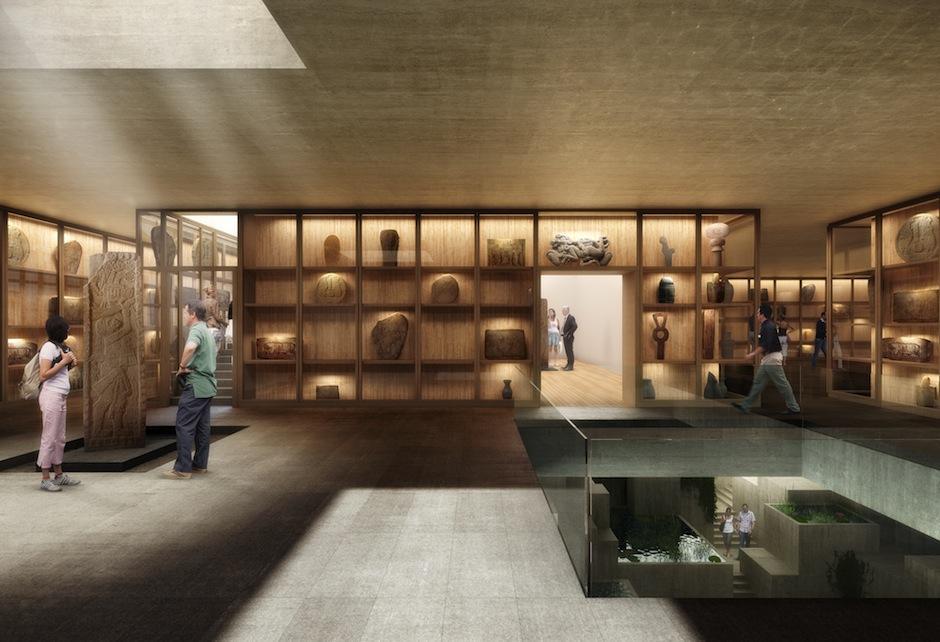 El diseño de la edificación se asemeja a los templos mayas, sin exactamente replicarlos. (Foto: Fundación Museo Maya de América)