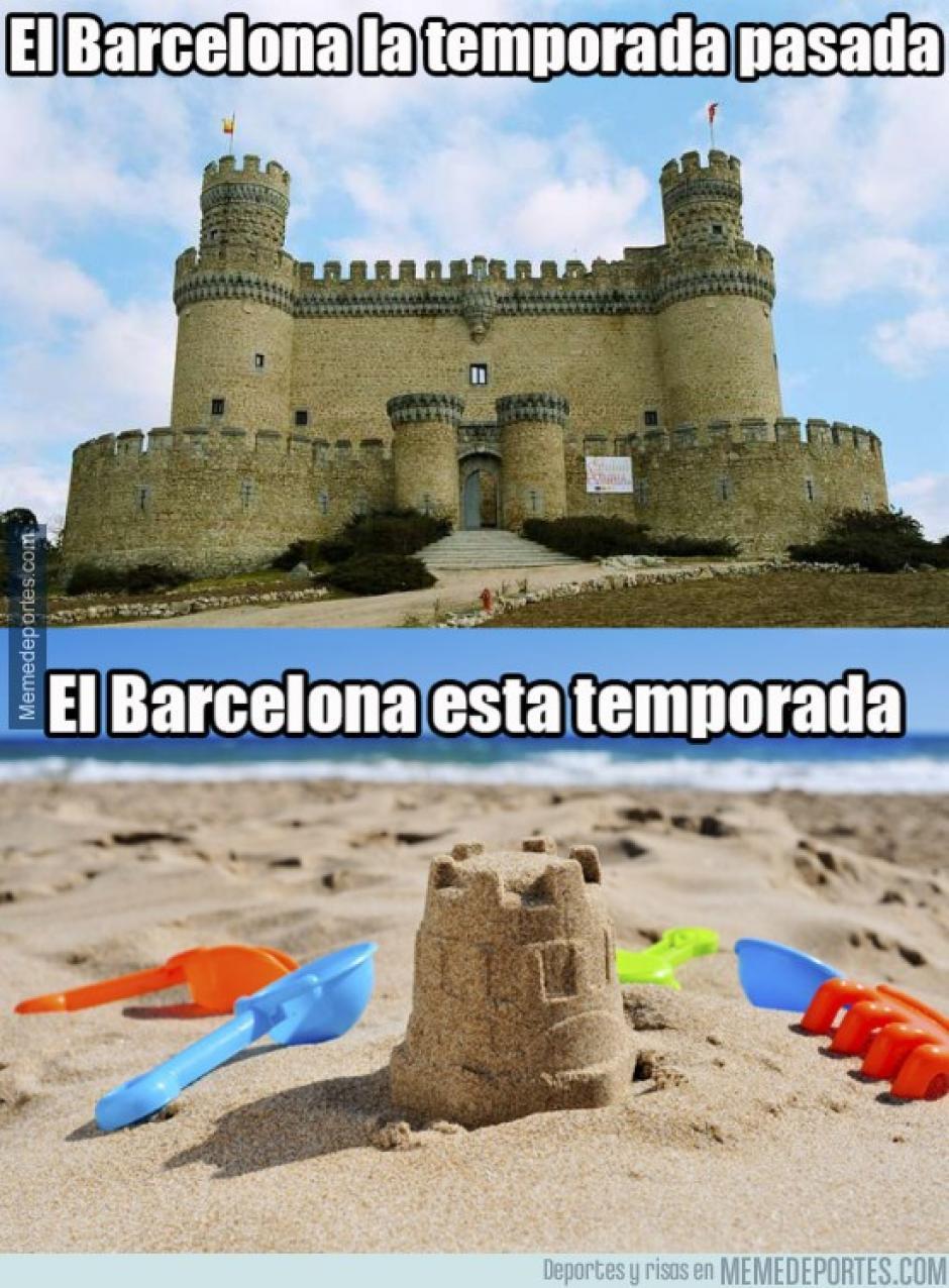 La irregularidad del Barcelona está siendo cuestionada por los usuarios de redes sociales. (Foto: Twitter)