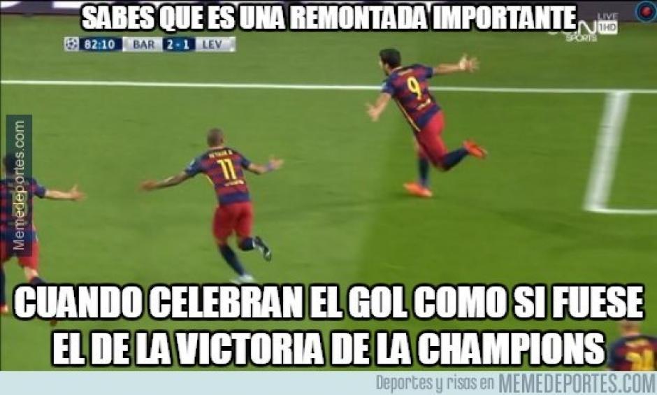 El gol de Suárez fue la salvación del Barcelona, que por 58 minutos perdió el juego en casa. (Foto: Twitter)