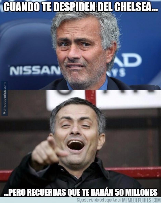 Mourinho cobrará por no haber terminado su contrato con el Chelsea. (imagen: sopitas.com)