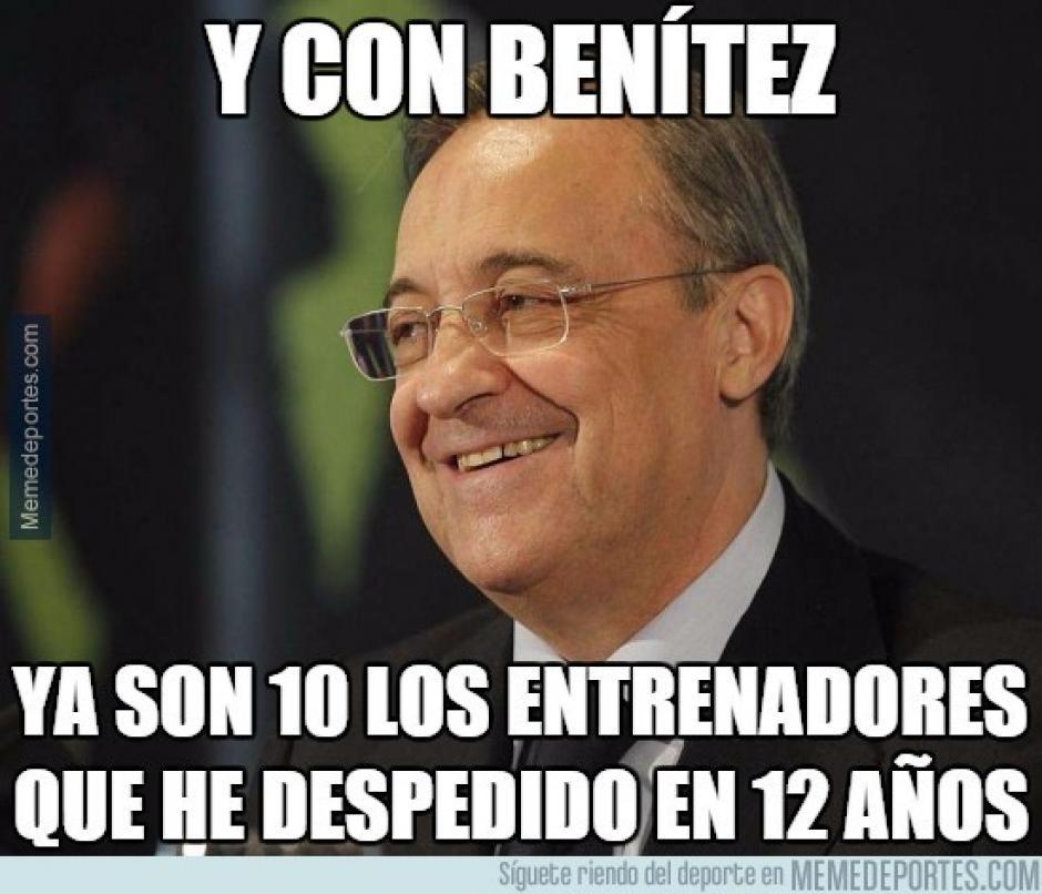Florentino Pérez destituyó a otro entrenador merengue y su lista se hace cada vez más grande. (Foto: memedeportes.com)