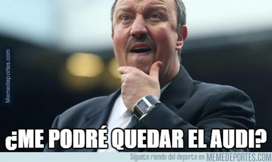 Las redes sociales no dejaron pasar ningún detalle de Benítez en el Madrid. (Foto: memedeportes.com)