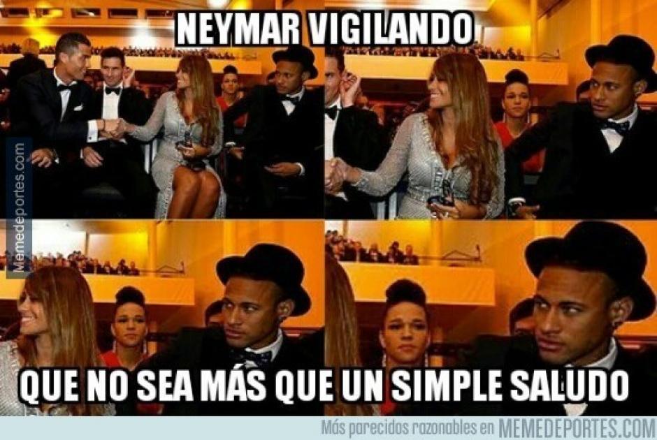 El saludo entre Cristiano Ronaldo y la pareja de Messi no pudo pasar desapercibido. (Imagen: memedeportes.com)