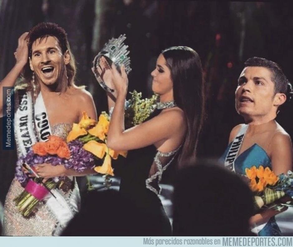 Algunos recordaron a Miss Universo durante la gala del Balón de Oro. (Foto: memedeportes.com)
