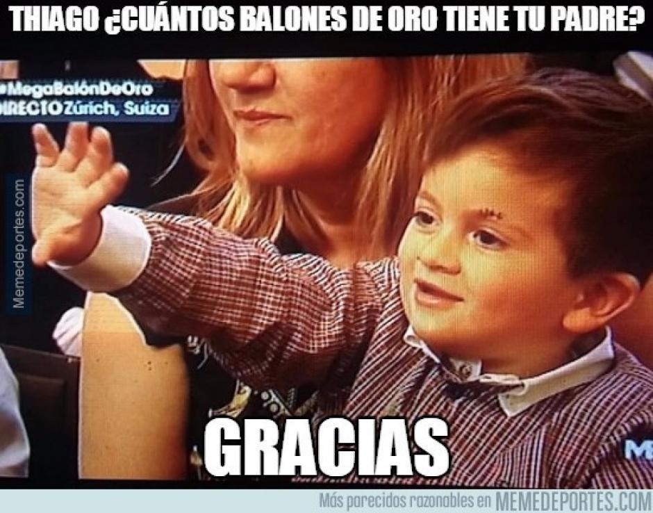 Varios usuarios de redes incluso bromearon con los gestos del hijo de Lionel Messi. (Imagen: memedeportes.com)