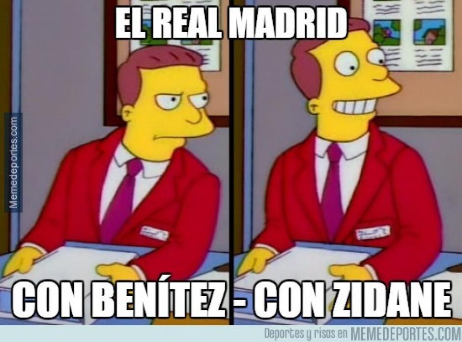 """Muchos """"memes"""" resaltan el cambio mosstrado por el Madrid tras destituir a Benítez. (Imagen: memedeportes.com)"""