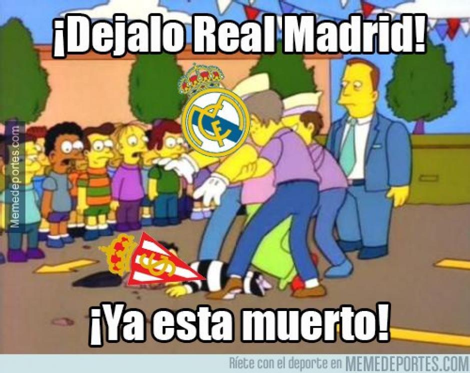 Muchos se sorprendieron al inicio del juego, pues el Madrid salió a asegurar una goleada ante el Sporting. (Imagen: memedeportes.com)