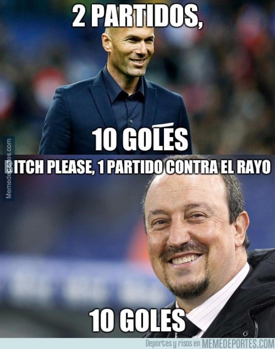 Los dos últimos entrenadores del Real Madrid. (Imagen: memedeportes.com)