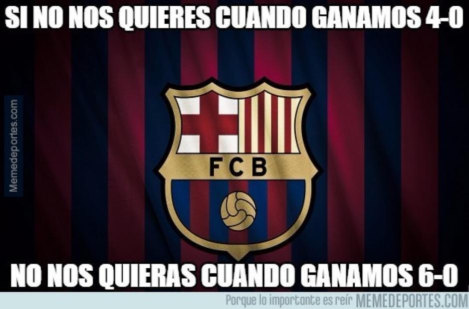 """Un """"meme"""" para fanáticos de verdad del Barcelona. (Imagen: memedeportes.com)"""