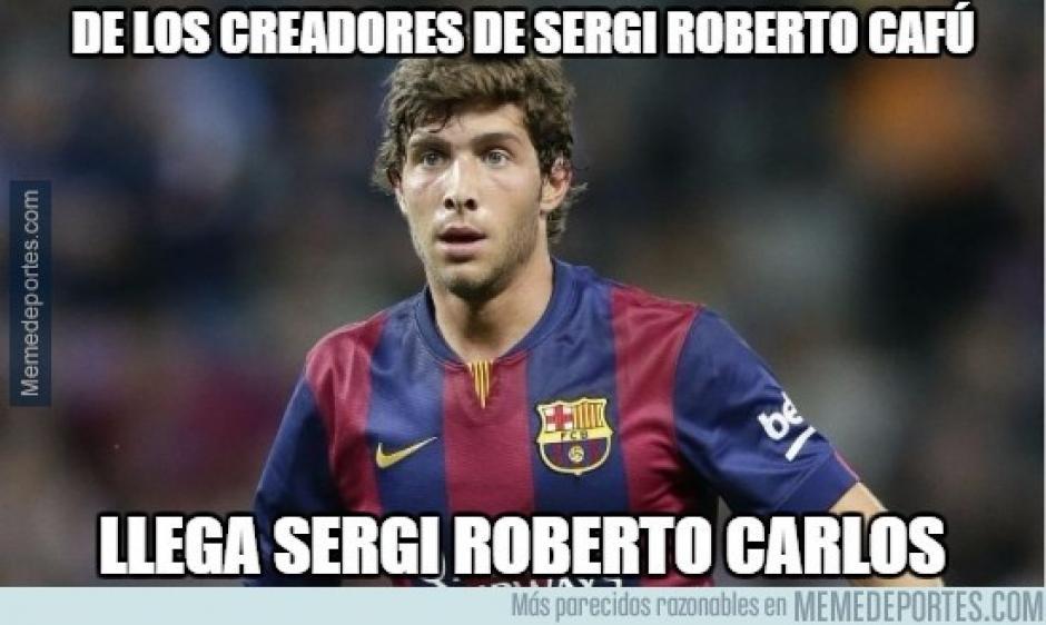 "Sergi Roberto fue víctima de ""memes"". (Imagen: memedeportes.com)"