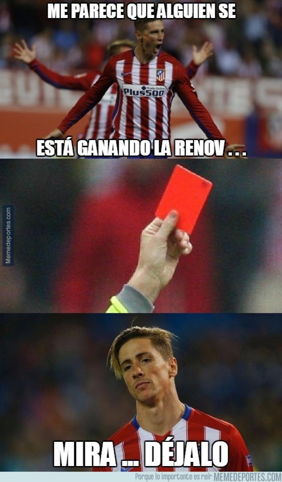 Fernando Torres anotó un gol y luego fue expulsado. (Imagen: memedeportes.com)