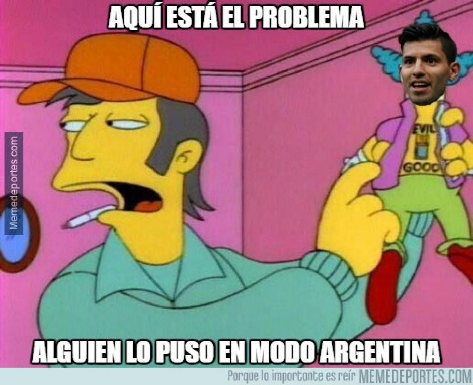 """Sergio el """"Kun"""" Agüero fue criticado por su bajo rendimiento. (imagen: memedeportes.com)"""