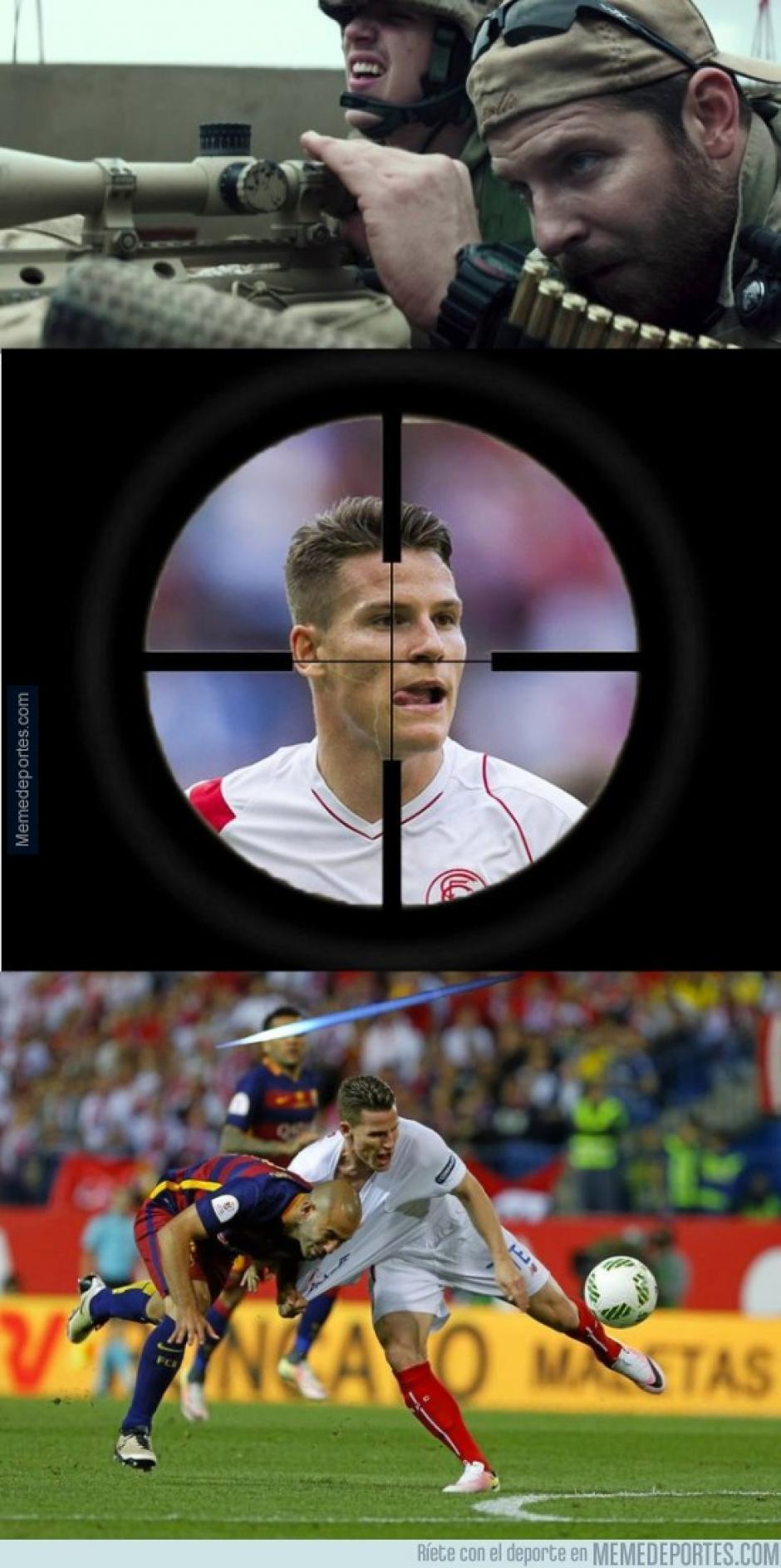 Objetivo, el delantero del Sevilla.