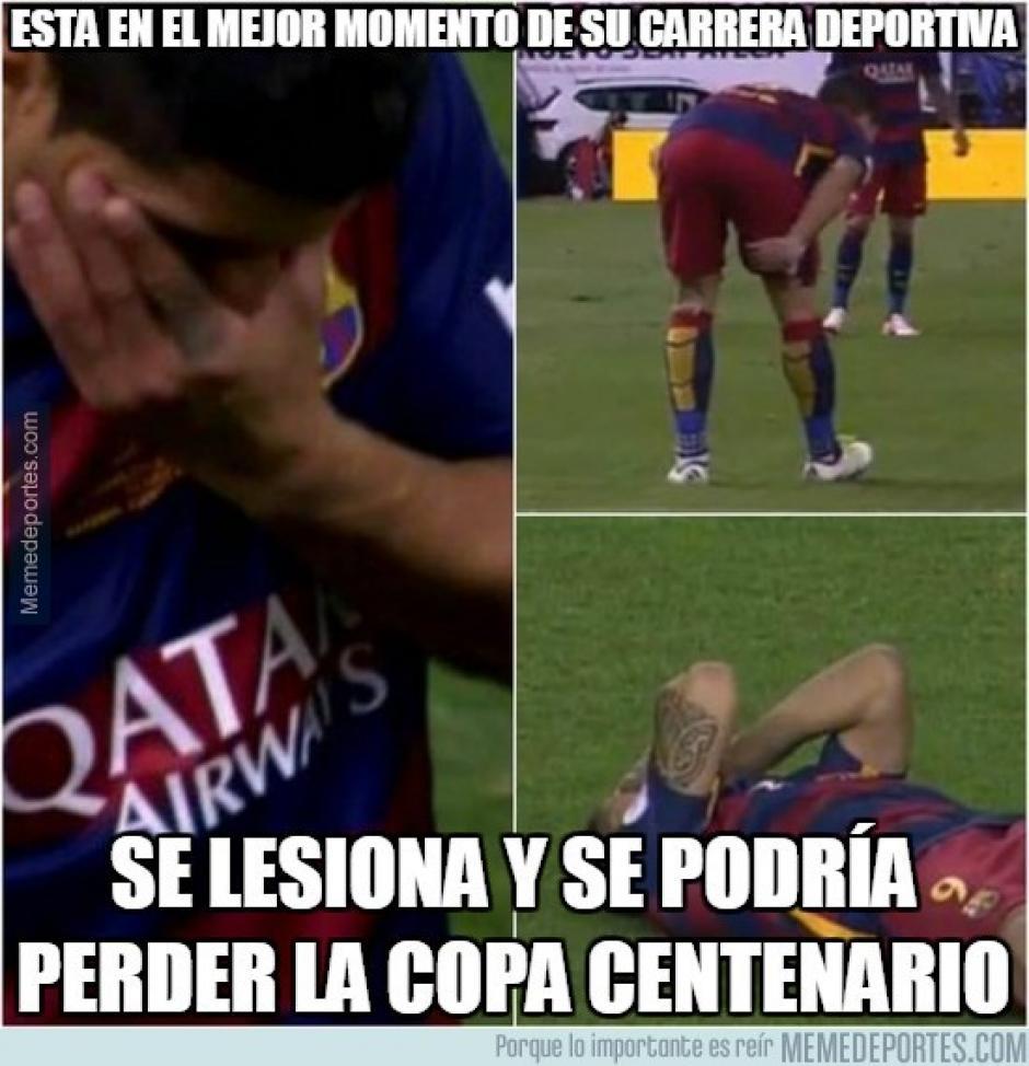 Luis Suárez y su lesión en la final de Copa del Rey.