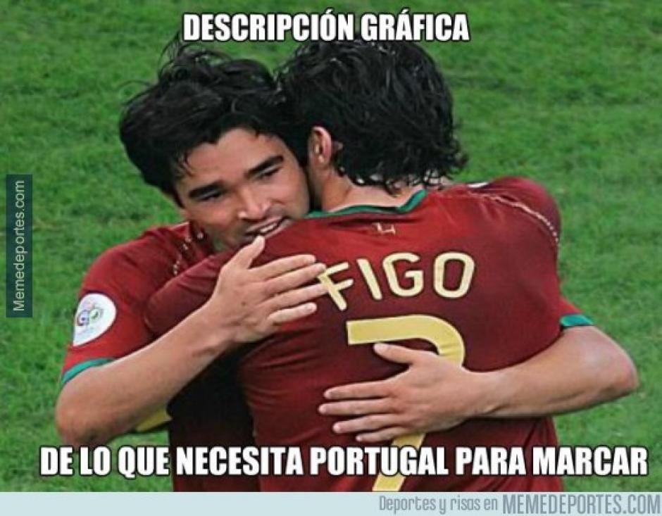 Portugueses recordaron a otras generaciones de futbolistas. (Imagen: memedeportes.com)