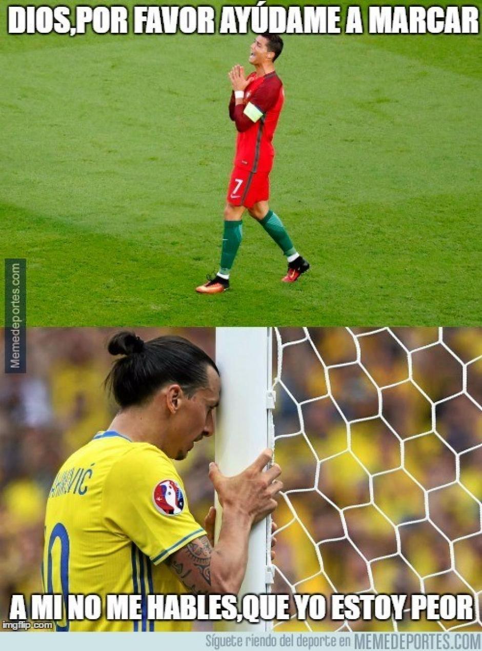 """Cristiano no es el único con la """"pólvora mojada"""" en la Euro. (Imagen: memedeportes.com)"""