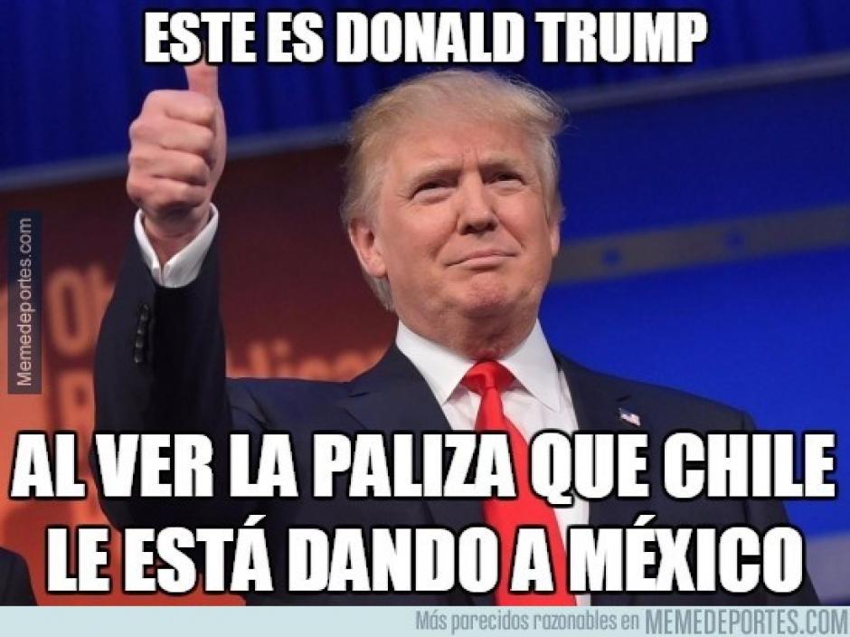 """Hasta Donald Trump salió a relucir tras la derrota del """"Tri"""". (Foto: memedeportes.com)"""
