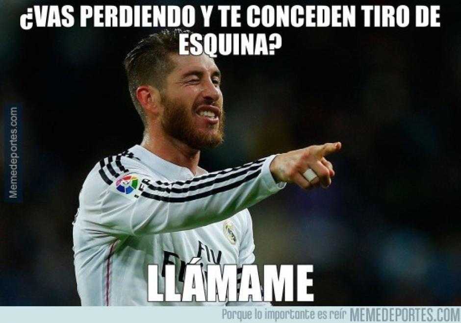 """El gol de Ramos fue el tema central de los """"memes"""" tras el juego. (Imagen: memedeportes.com)"""
