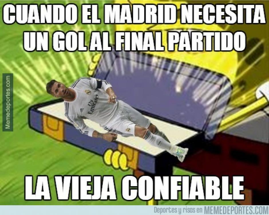 """Sergio Ramos se convirtió en la """"vieja confiable"""" del Real Madrid. (Imagen: memedeportes.com)"""