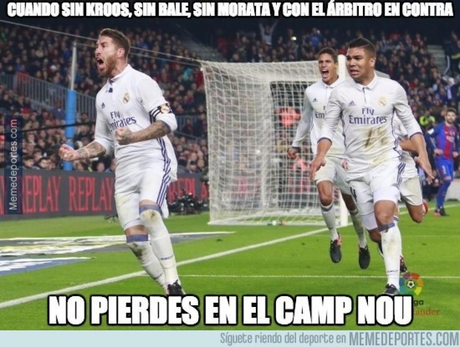 """Los """"memes"""" se centraron en el gol de último minuto del Real Madrid. (Imagen: memedeportes.com)"""