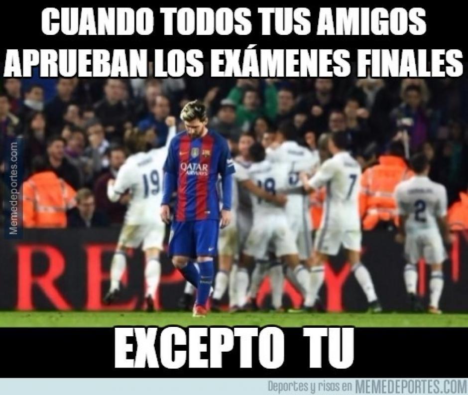Lio Messi no brilló como quiso durante el clásico en el Camp Nou. (Imagen: memedeportes.com)