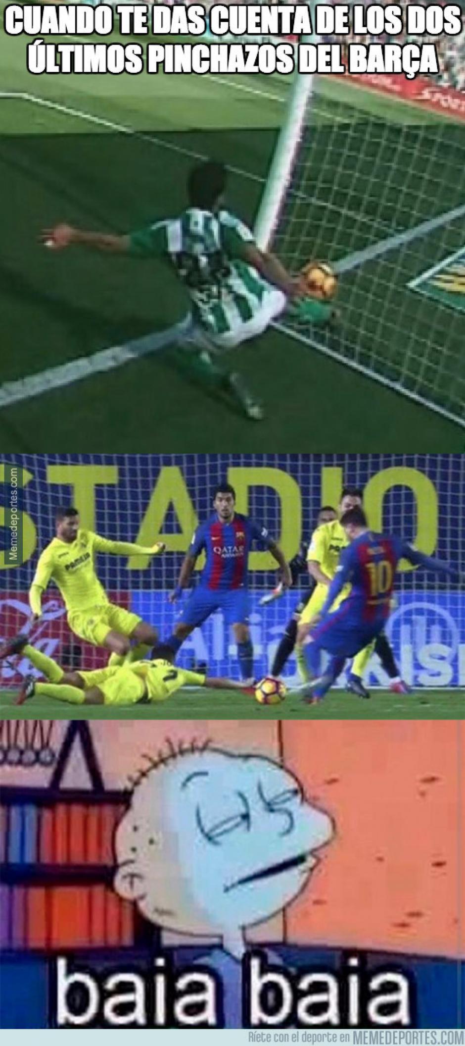 Varios internautas recordaron los últimos fallos en contra del Barcelona. (Imagen: memedeportes.com)