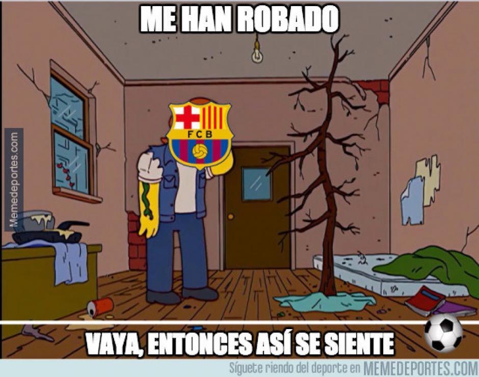 """Muchos se burlaron sobre el supuesto """"robo arbitral"""" sufrido por el Barcelona ante el Betis. (Imagen: memedeportes.com)"""