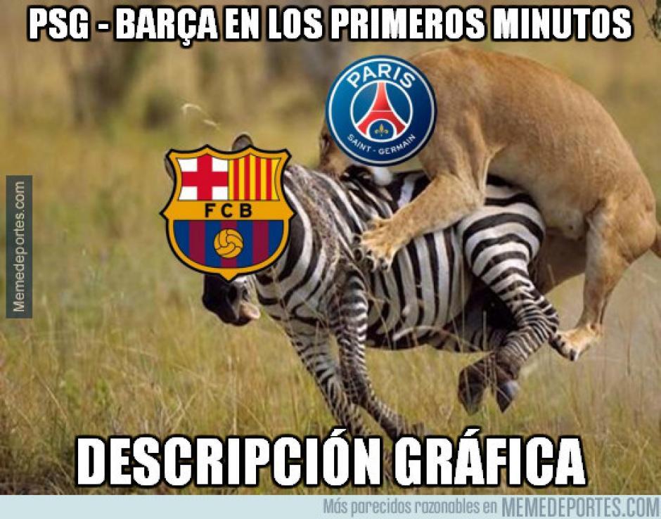 El PSG fue decisivo desde los primeros minutos. (Imagen: memedeportes.com)