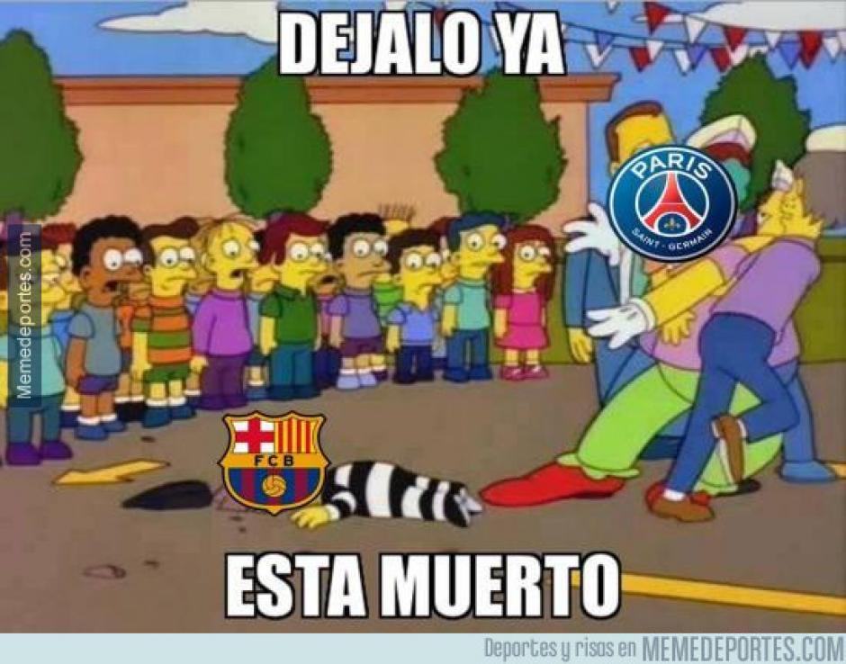 """El PSG goleó 4-0 al Barcelona y los """"memes"""" aparecieron de inmediato. (Imagen: memedeportes.com)"""