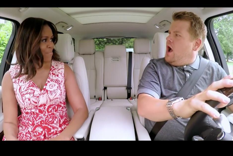 La primera dama de Estados Unidos, protagonizó un viaje musical junto al cómico James Corden. (Foto: YouTube)