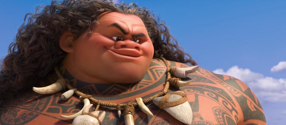 Los polinesios no están conformes con el físico de Maui. (Foto: YouTube)