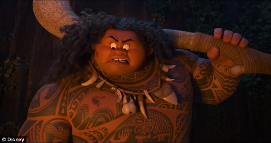 La fuerza del semi dios Maui se sentirá en esta historia. (Foto: YouTube)