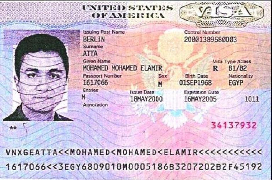 Mohamed Atta tenía visa estadounidense. (Imagen: blogs.20minutos.es)