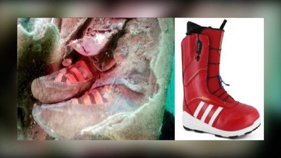 La momia tenía un par de zapatos que se parecen a la marca Adidas. (Foto: mdzol)