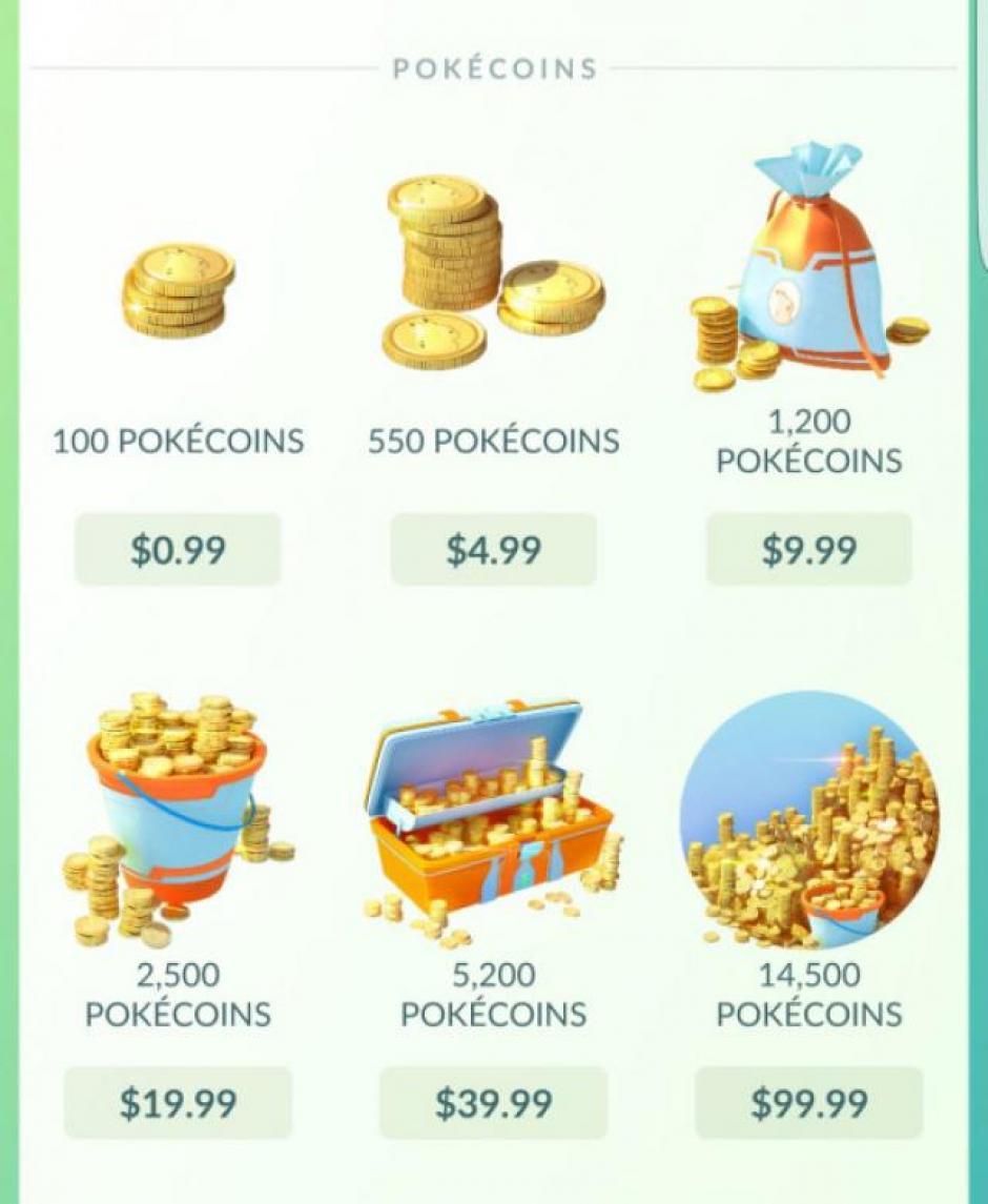 Las monedas sirven para comprar Pokébolas y otros artículos en el juego. (Foto: captura de pantalla)