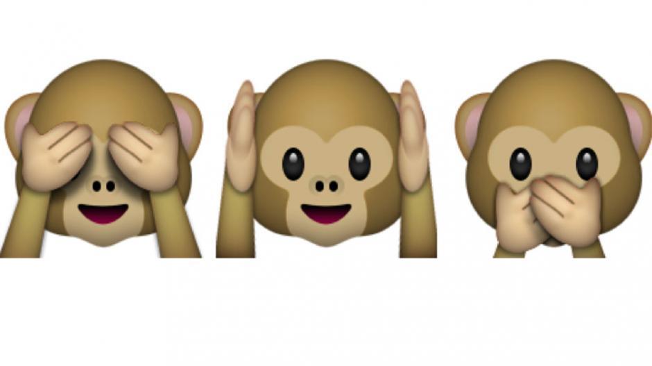 Los emojis de los tres monitos son muy utilizados en las redes sociales. (Foto: mundotkm.com)