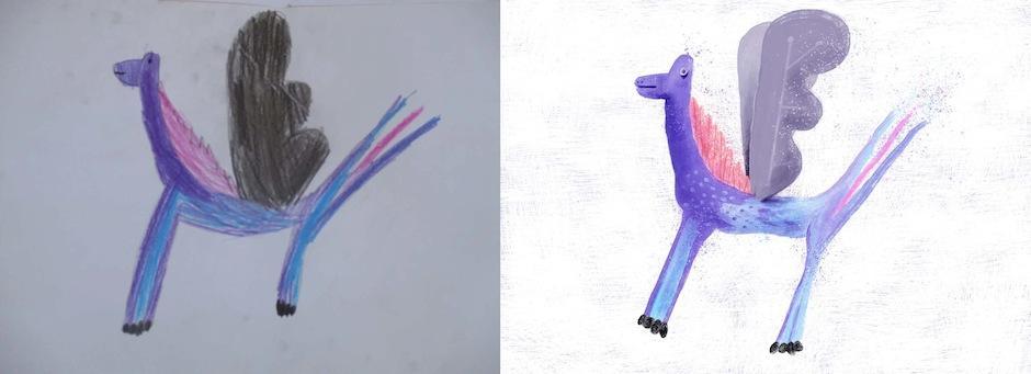 """Alumnos de la asociación """"Escuela de la calle"""" dibujaron monstruos. Foto: Monsters by kids)"""
