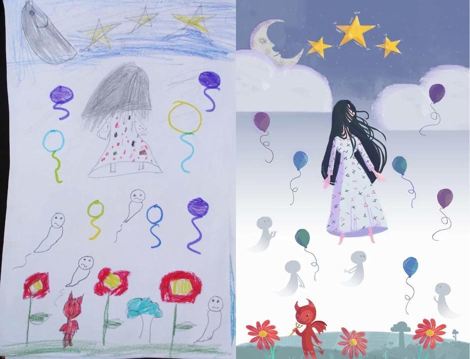 """Personajes como """"La llorona"""" también salieron a luz. (Foto: Monsters by kids)"""