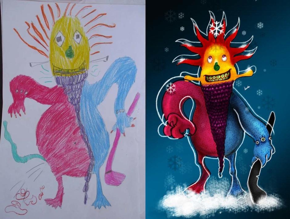 Cada personaje tiene un toque misterioso. (Foto: Monsters by kids)