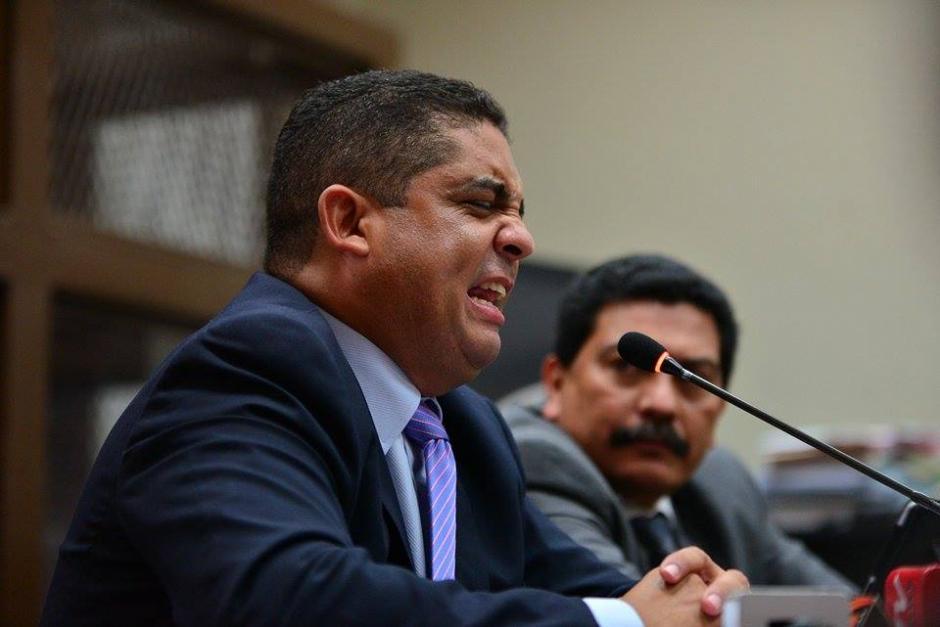 Monzón gesticuló con ira en la audiencia. (Foto: Wilder López/Soy502).