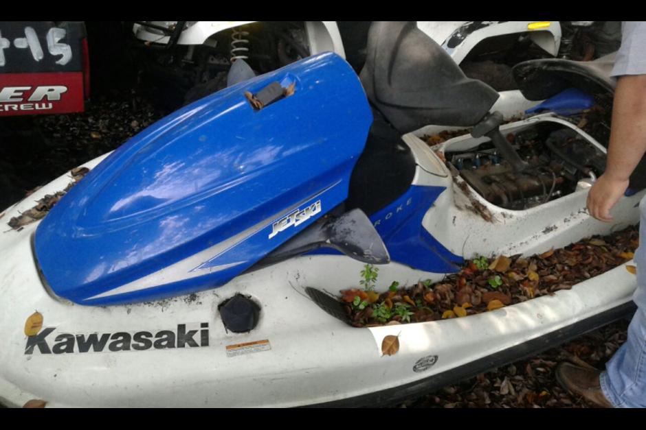 Dos motos acuáticas que se encontraron en una de las propiedades de Lima y fueron entregadas a la Senabed. (Foto: MP)