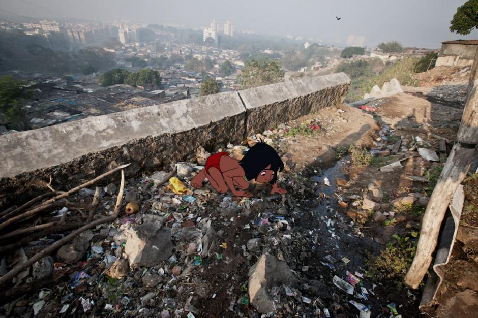 Mowgli se perdería en toneladas de basura. (Imagen: disneyunhappilyeverafter)