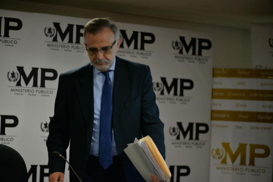 Iván Velásquez de la CICIG antes de iniciar la conferencia. (Foto: Wilder López/Soy502)