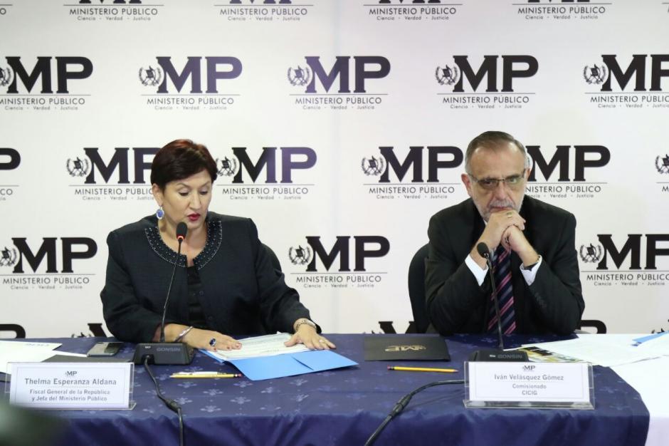 La fiscal general Thelma Aldana y el jefe de la CICIG Iván Velásquez. (Foto: Alejandro Balán/Soy502)