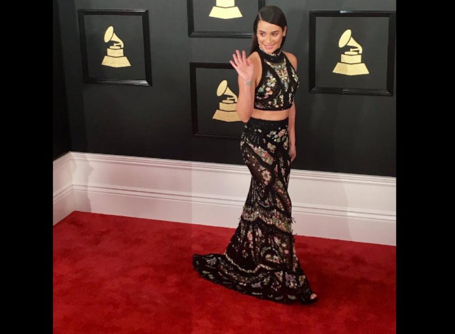 Lea Michele lució un vestido muy elegante. (Foto: TKM)