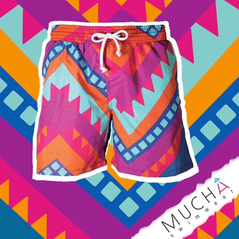 Esta marca invita a diseñadores guatemaltecos a plasmar su visión del país en estas piezas. (Foto: Muchá Swimwear)