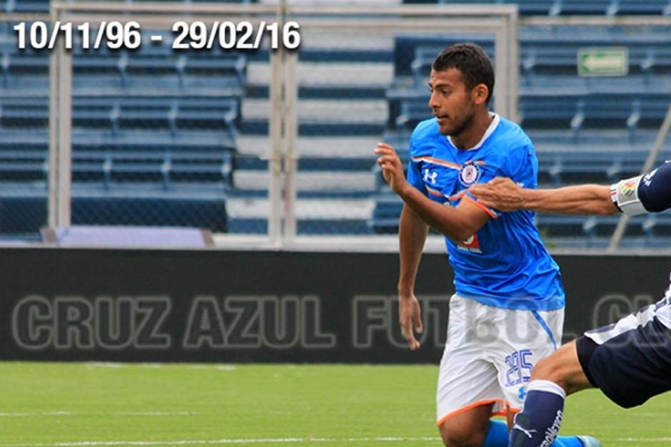 Alan Mayer, jugador del equipo sub20 de Cruz Azul, falleció en un accidente automovilístico. (Foto: Cruz Azul futbol club)